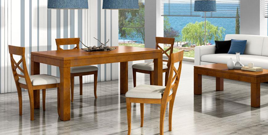 Mesas y sillas para salón comedor